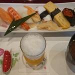 清寿司 - ランチの握り寿司。