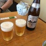 若松屋 - ビールで乾杯