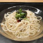 白 - 箸休:青しば冷麺 青梅 胡瓜 紫蘇