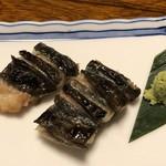 うなぎの竜由 - 試作中の塩焼き