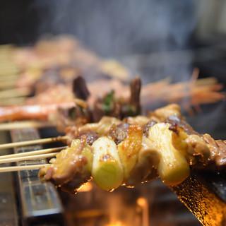 【ちょっと贅沢気分】県産食材の串焼き
