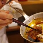 ぽんしゅや 三徳六味 - ワンショットすき焼きだー