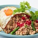 鶏挽き肉とバジルのガパオライス~フライドエッグ添え~
