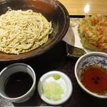 生そば あずま - 桜海老と紅生姜のかき揚げ天盛り!
