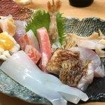 富久寿司 - お任せ刺し身盛り合わせ