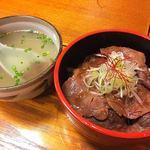 厚切り牛タン専門店 居酒屋 タン吉 - タン吉丼 & タンスープ    〆にこれば外せないでしょう!