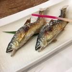 鮎茶屋 - 料理写真:鮎定食  2200円に追加で鮎の塩焼き800円