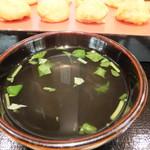 ぶぶ亭 - 上品な味のお出汁 出汁に映りこむ「問題の柱」