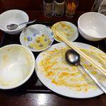 中華料理 大福楼 - 海老チリと玉子の炒めランチ(大盛)700円(ランチは、ライス&スープのおかわり無料)