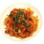 Osteria Tutto Sole - 自家製サルシッシャと夏野菜のトマトソース