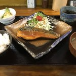 大衆食堂 山 - さばの味噌煮定食 △