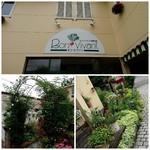 ボン・ビヴァン - サイン・グリーンのアーチ・ガーデンを通って店内へ!