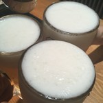 焼肉居酒屋 マルウシミート - とりあえずビールで乾杯