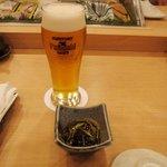 鮨まつい - 生ビールはプレミアムモルツ