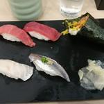 すしざんまい 仙台一番町店 - 本鮪お得盛、真鯛、あじ