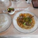 中山カントリークラブ - 料理写真:国産牛ロースたまり焼 ミニサラダ付