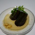 厲家菜 - 茄子と大豆の和え物
