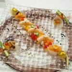 シャトー ラ・パルム・ドール - 海の幸と季節の野菜のコラボレーション プロヴァンサル仕立て