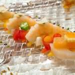 シャトー ラ・パルム・ドール - 海の幸と季節の野菜のコラボレーション プロヴァンサル仕立て アップ