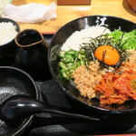 うどん居酒屋 江戸堀 - 料理写真:ネバネバ!キムチぶっかけうどん