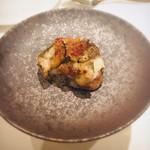 アルモニコ - 牡蠣とゴルゴンゾーラのブルスケッタ
