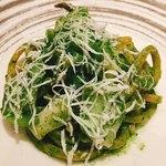 アルモニコ - キタッラ アオリイカ 小松菜のジェノベーゼ
