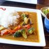Cafe KaZe - 料理写真:2018年4月 季節の野菜カレー(スープセット)【1100円】