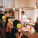 アルモニコ - オープンキッチンカウンター席