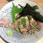 博多もつ鍋 前田屋 - ごまサバ、美味しかったです