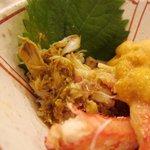 鮨まつい - 毛蟹 ミソ和え 海水雲丹 乗せ