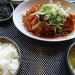 韓家 よっこらしょっ - ロースからし焼定食