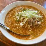 黄さんの家 - 白胡麻坦々麺    凄い胡麻❤️  縮れ太麺でスープも絡みます。