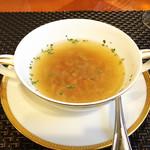 西武特別食堂 ホテルオークラ - 夏の洋食コース <オパール> コンソメスープ