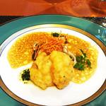 西武特別食堂 ホテルオークラ - 夏の洋食コース <オパール> カンパチのポワレ はものフリット添え