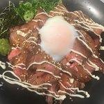 ジムビームバー - MEGA盛り ローストビーフ丼(´∀`*)