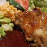 ローストチキンハウス - 鶏もも肉のオーブン焼き 自家製BBQソース;アップ