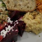ガーデンハウス カフェ - ビーツのサラダ、フムス