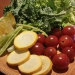 旬菜食健 ひな野 - 珍しい野菜がたくさん。