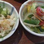 旬菜食健 ひな野 - ツナサラダご飯と夏野菜のサラダ?忘れてしまった!