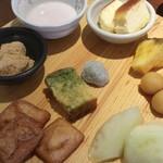 旬菜食健 ひな野 - デザート。すいかが出ている事に気付かず、2切れしか食べられなかった。。。写真も忘れた (。>д<)