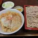 満留賀 - ミニかつ丼+もり950円