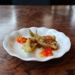 Bistro辻庵 - 淡路島産タチウオのフリット 赤ワインビネガーとはちみつのソース
