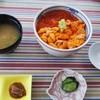 みはらし荘 - 料理写真:生赤うに二色丼5,000円…ムラサキウニ(白ウニ)よりも濃厚です