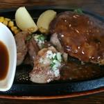 ベリーベリーファーム上田 レストラン - ラムスライスカットステーキ&ハンバーグ