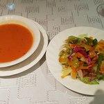 89276010 - スープが美味しい、そしてサラダ