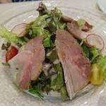 ビストロ オザミ - 生ハムとサラダの盛り合わせ