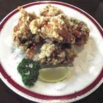レストラン アサヒ - 《若鶏のから揚げ(骨付き)》