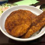 ヨーロッパ軒 - 3種盛スペシャルカツ丼セット 1280円。