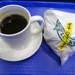 89284833 - ホットコーヒー、ラッキーエッグバーガー