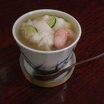 手打蕎麦 とし庵 - 冷やし海鮮茶碗蒸し すだちのあん